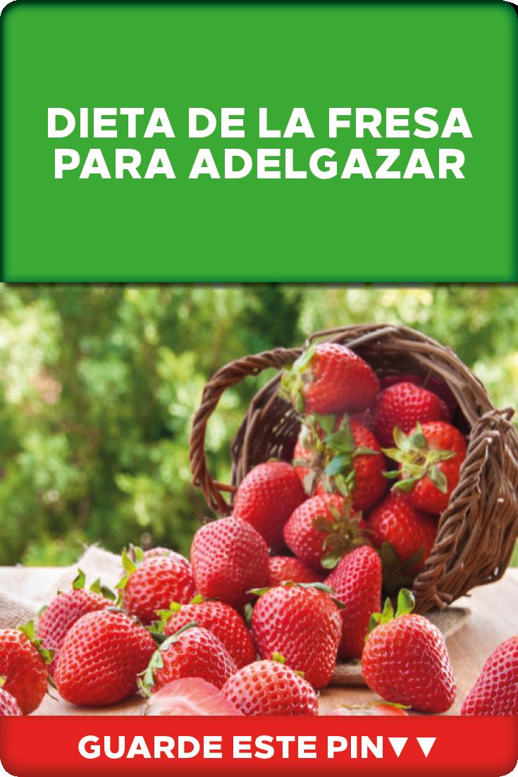 dieta de la fresa para adelgazar rapido