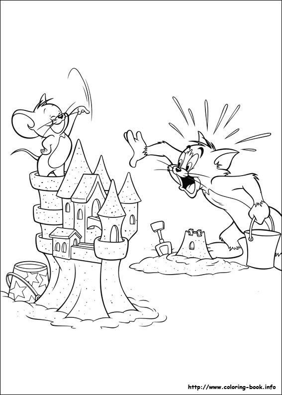 Tom and Jerry coloring pages on Coloring-Book.info | nursery room ...