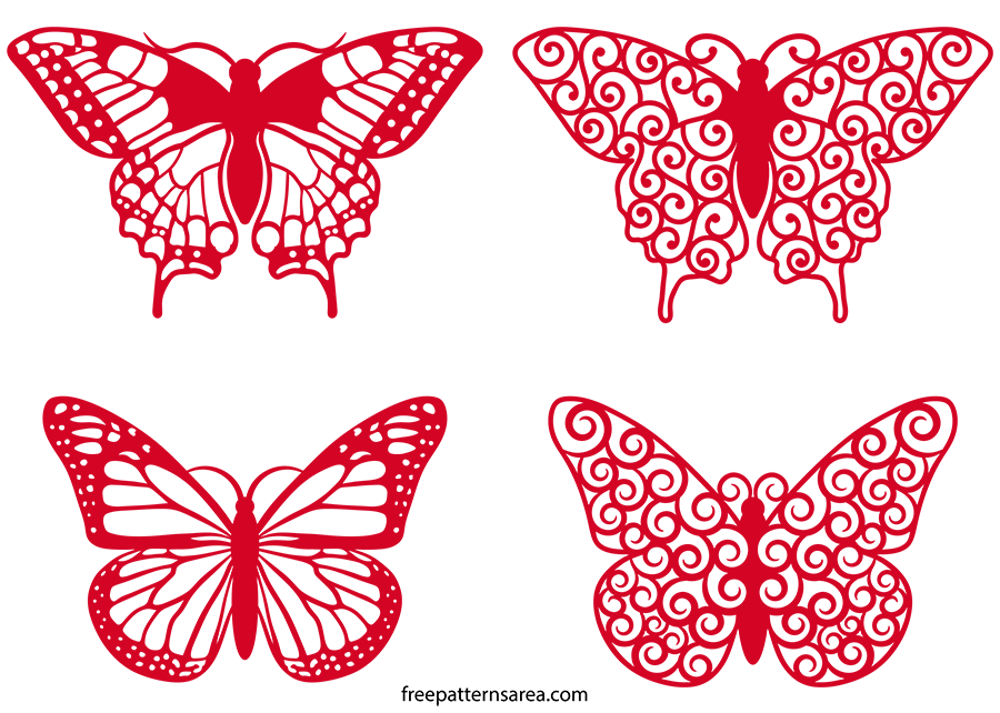 Butterfly Swirl Clipart Vector Files Butterfly cutout