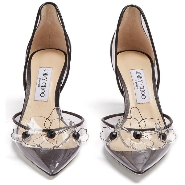 a139c731aab5 ... sale jimmy choo levina 65 flower embellished pumps 950 liked on  polyvore featuring shoes c7860 d3e16