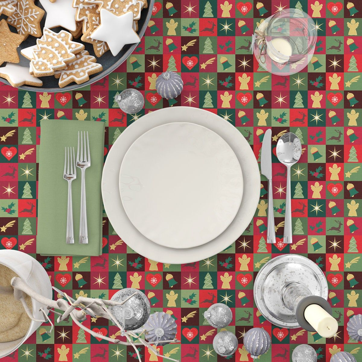 Christmas Quilt Pattern Tablecloth Round Christmas Tablecloth Rectangular Christmas Tablecloth Christmas Table Decorations Christmas Table Decorations Round Christmas Tablecloth Christmas Table