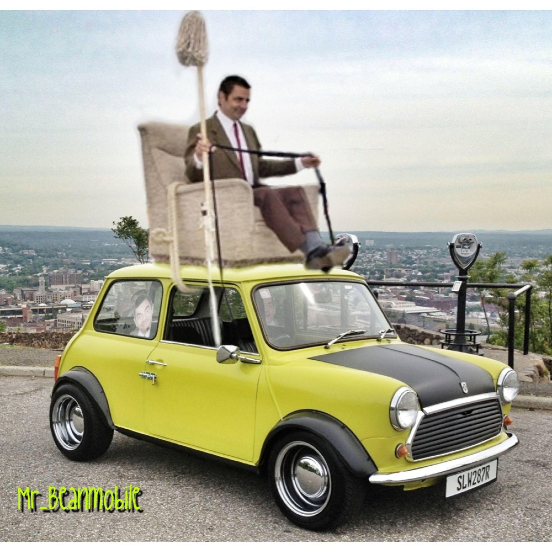Mr Bean Rides Again On My Mini Mr Beanmobile Mr Bean Pinterest Mr Bean