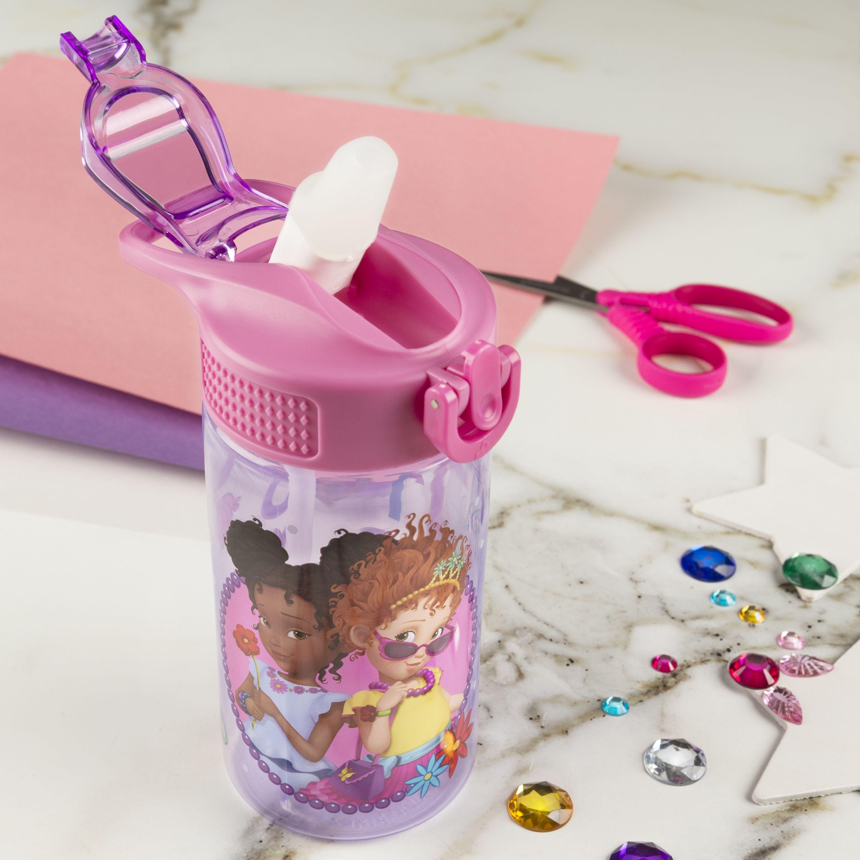 Zak Designs Water Bottle with Straw Fancy Nancy