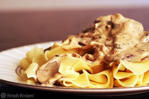beef stroganoff (what to do with leftover sour cream)