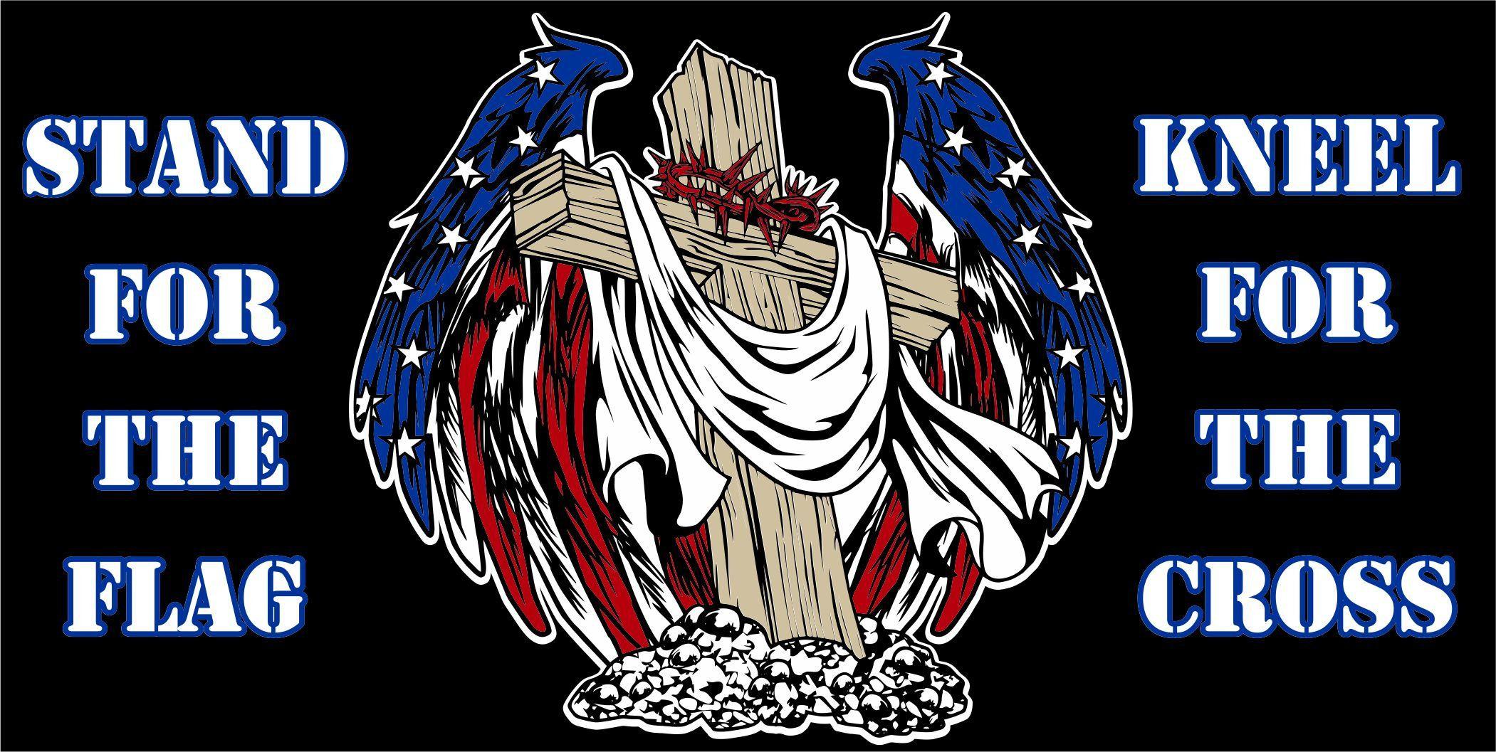 Cross Flag Jesus Christ Christian America Usa Eagle Wings Country Land Freedom Car Truck Window Vinyl Decal Sticker Custom Vinyl Decal Cross Flag Vinyl Decals
