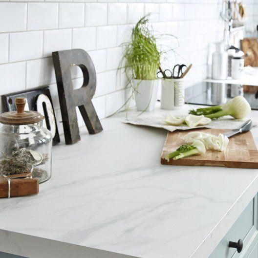 Faïence mur blanc, Métro authentique l75 x L15 cm Kitchen - Leroy Merlin Faience Cuisine