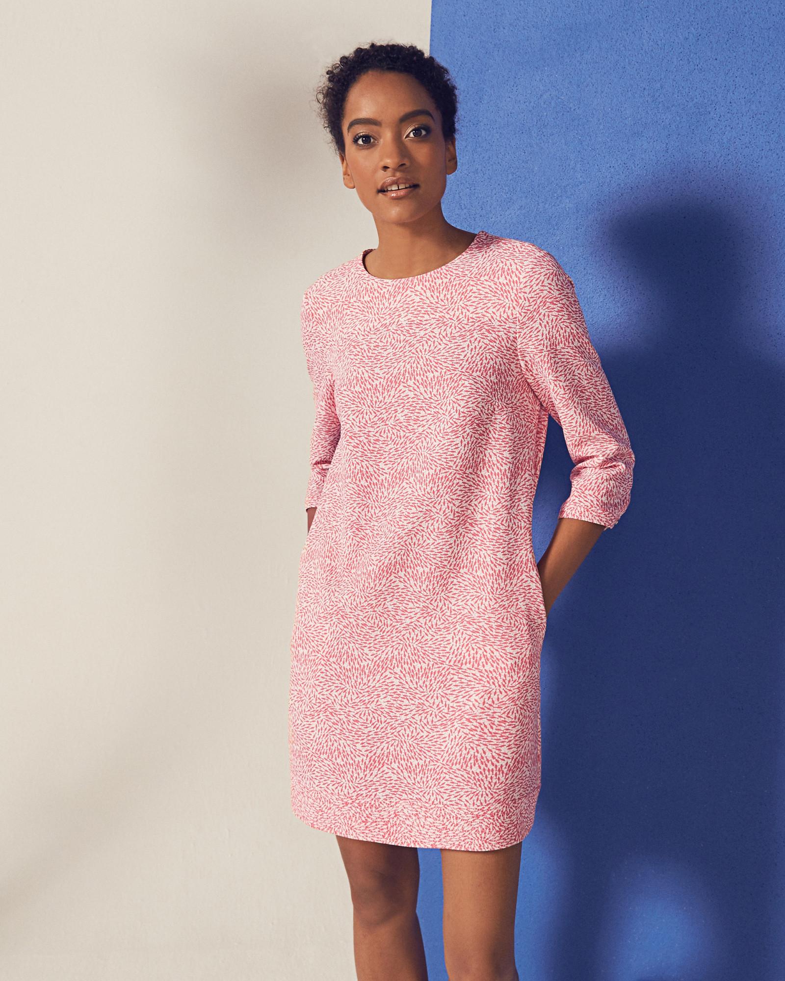 d6671ced4 Fish print shift dress - Coral
