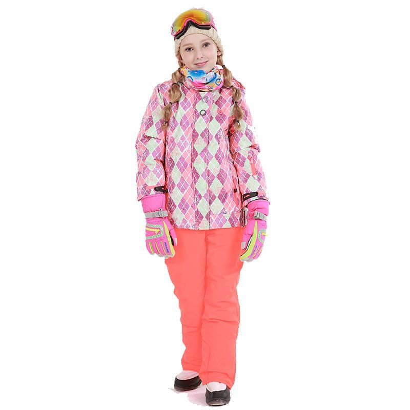 Free Shipping Winter Outdoor Children Clothing Set Windproof Ski Jackets + Pants  Kids Snow Sets Warm Skiing Suit For Boys Girls dfa92e4b0