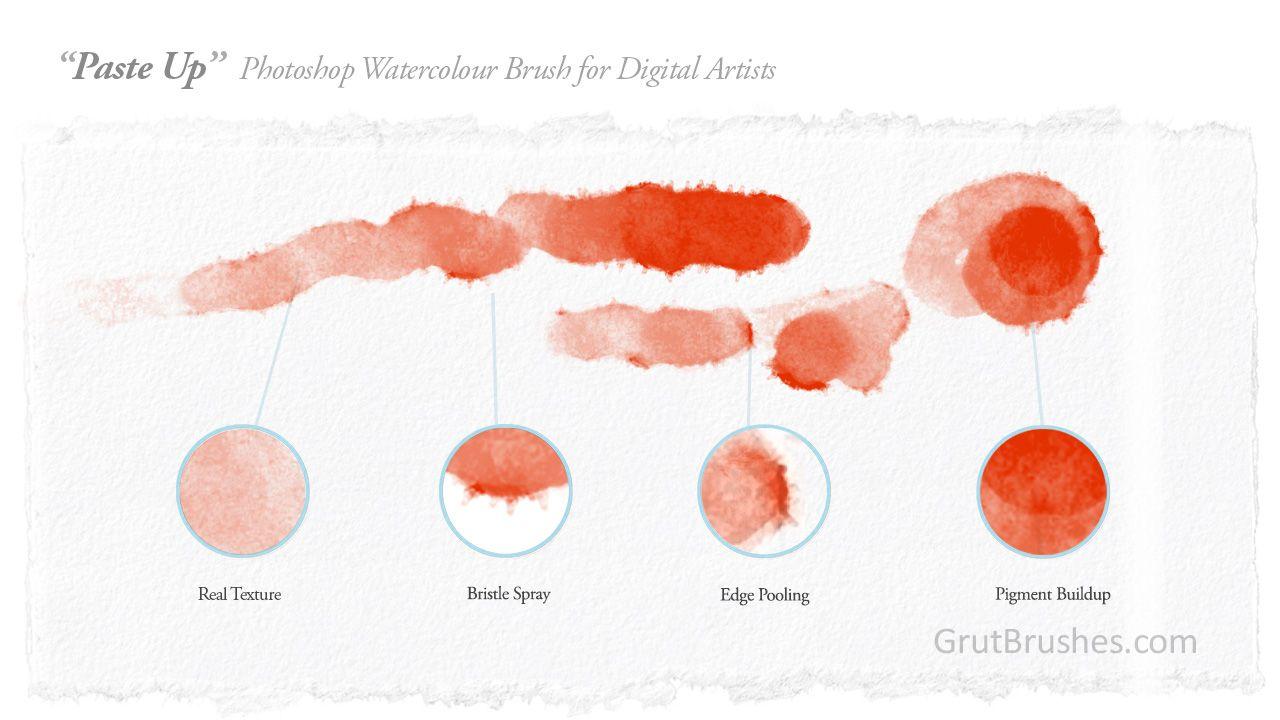 93 Free Watercolor Brushes Photoshop Brushes Photoshop Brushes