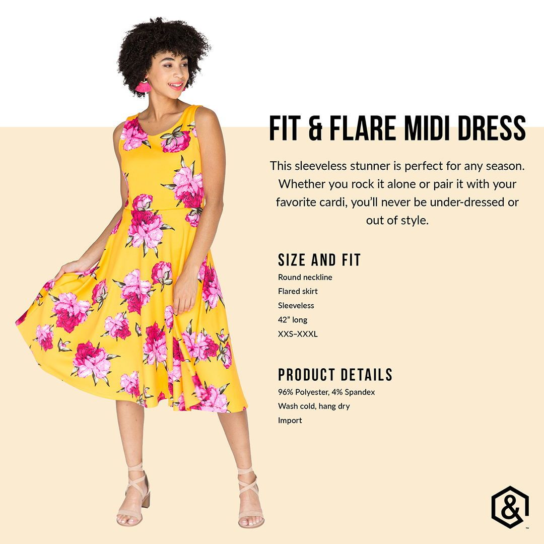 Agnes And Dora Fit And Flare Mid Dress Agnesanddora