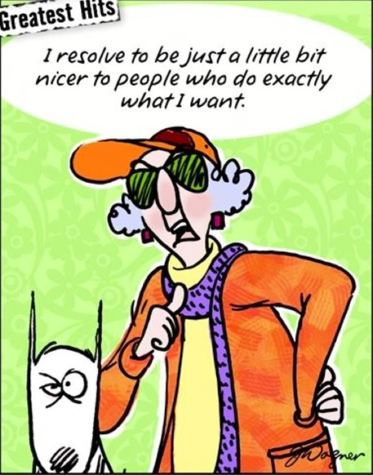 Maxine — New Year's resolution Maxine Says