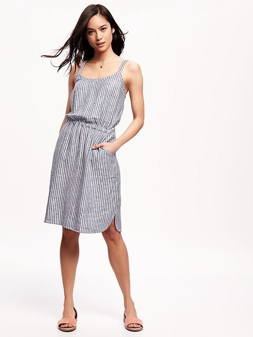 3814493c57 Striped Linen-Blend Cami Dress for Women Product Image