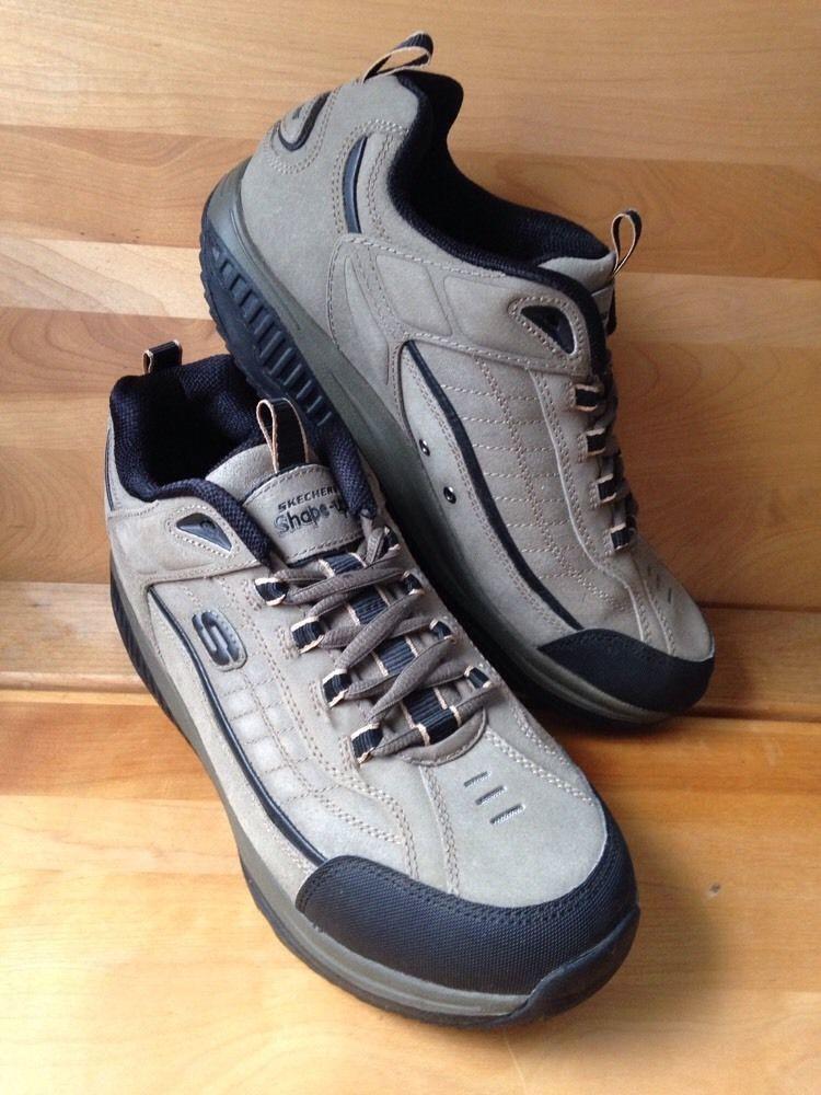 d7145edceff1b Skechers Leather Shape UPS Mens Shoe Size 10 5 Pebble Tan Lace Up Toning  Sneaker