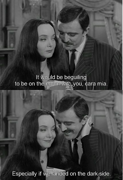 carolyn jones and john astin in the addams family the addams family 1964 original pinterest. Black Bedroom Furniture Sets. Home Design Ideas