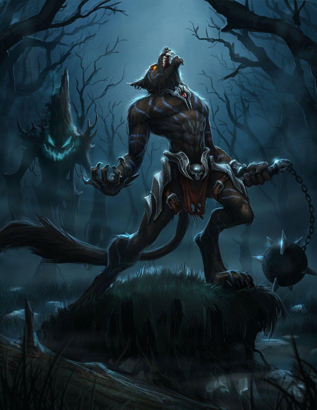 Wolfman Defiler By T Biddy Deviantart Com On Deviantart Horror
