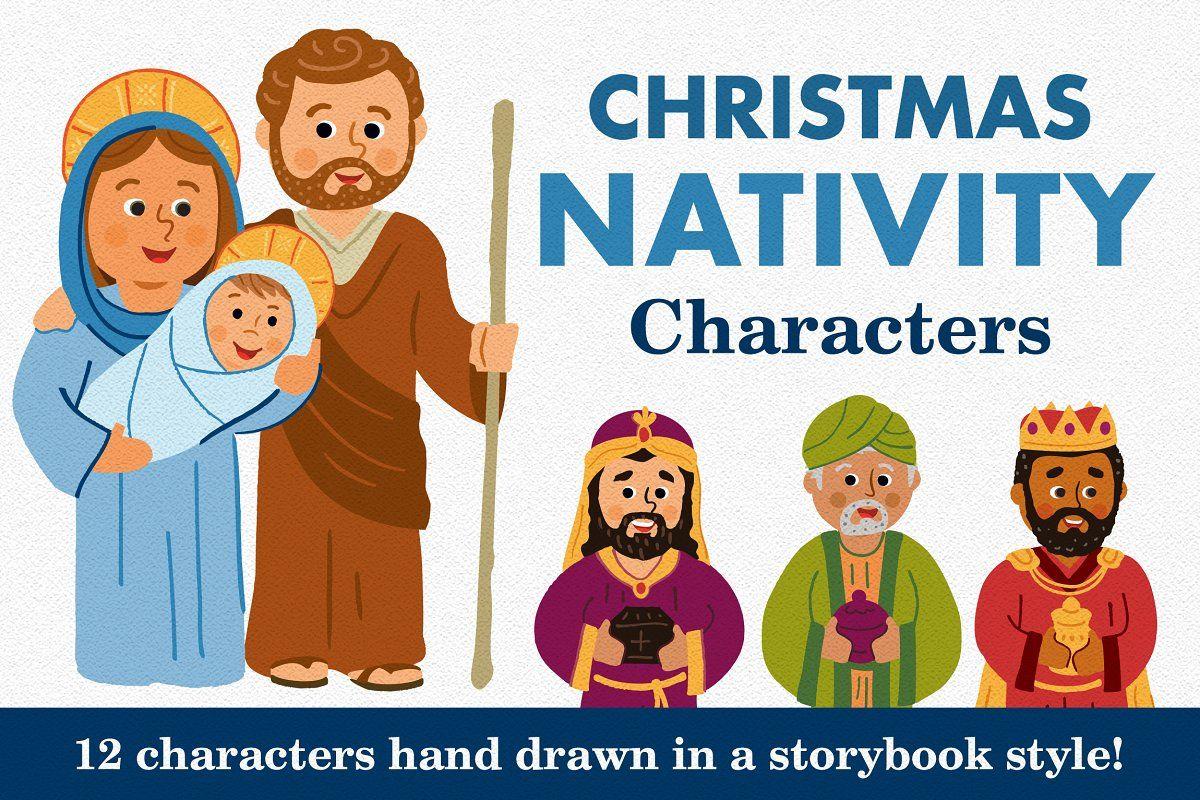 Christmas Nativity Characters Set Nativity characters