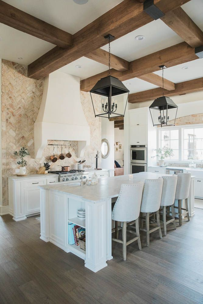 French Chateau Home Tour: New Home Mixed with Vintage Elements ...