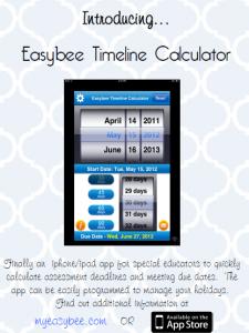 Timeline Calculator APP for calculating assessment dates/deadlines