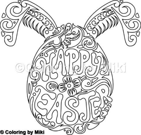 Happy Easter Coloring Page 138 Easter Easter Coloring Pages