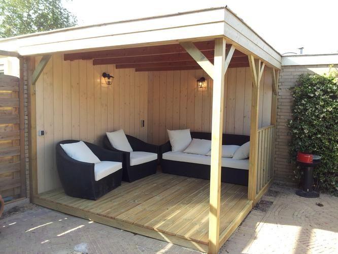 Lounge hoek google zoeken tuin pinterest lounges en zoeken for Overdekt terras model