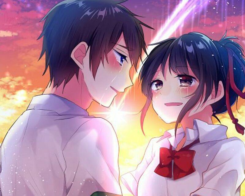صور انمي رومانسي Anime Romantic Pasangan Animasi Animasi Pasangan