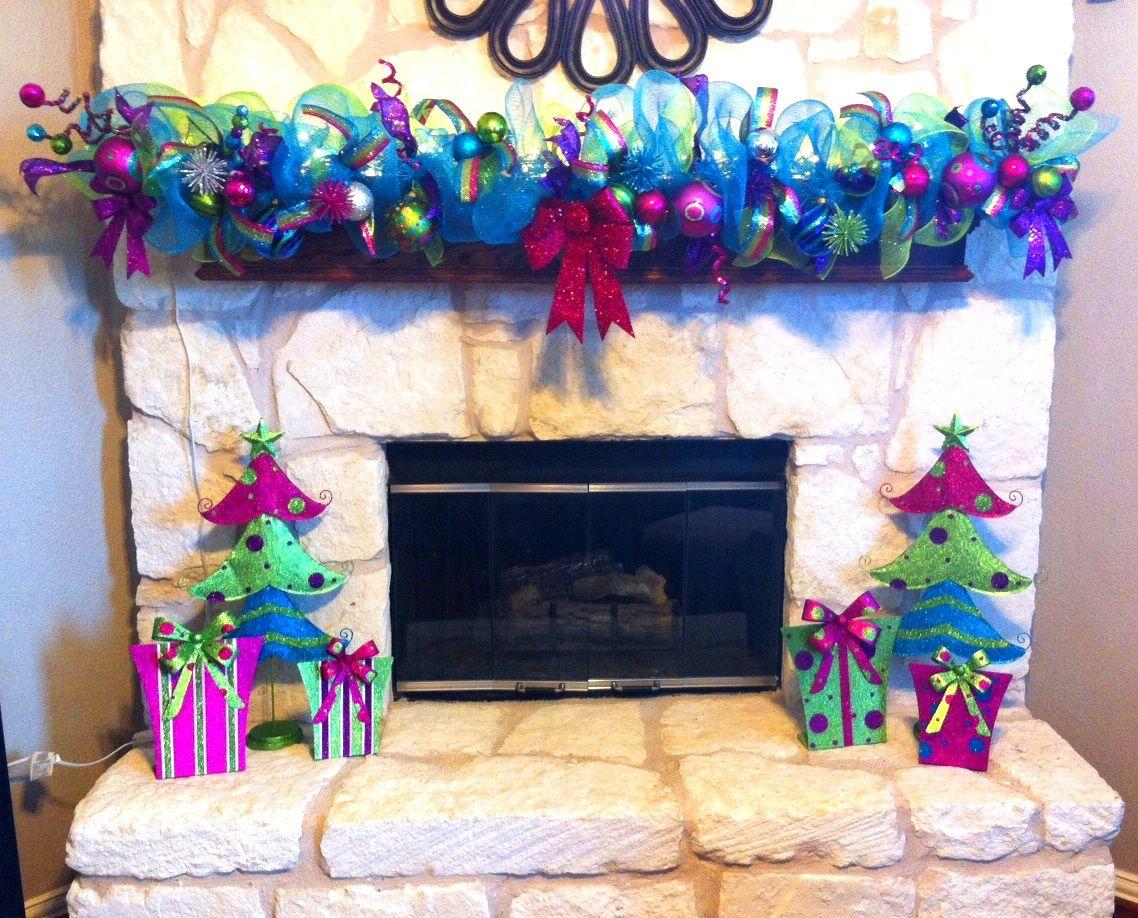 Whimsical Christmas Garland. Hand-made And Shipped All