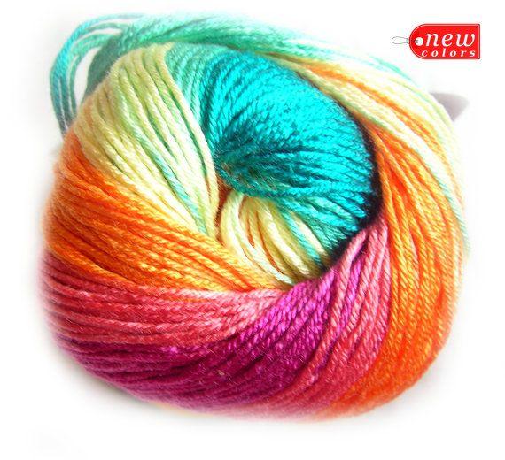 Alize Diva Batik Design Selfstriping Yarn With Silk By