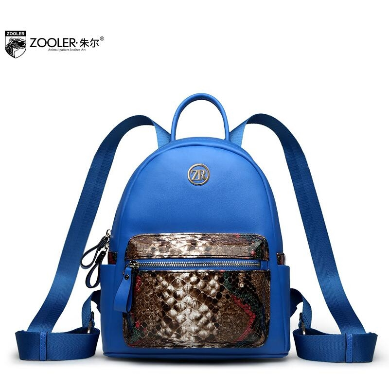 (84.37$)  Buy here  - Zooler 2017 New superior cowhide women genuine leather backpack fashion Serpentine backpack women famous brands Bucket backpack