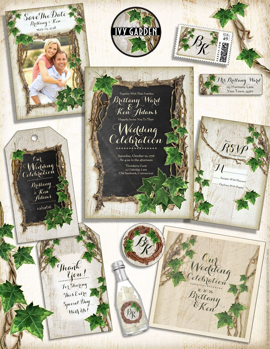 Ivy Garden Wedding Invitations By VintageWeddingInvitation.com ...