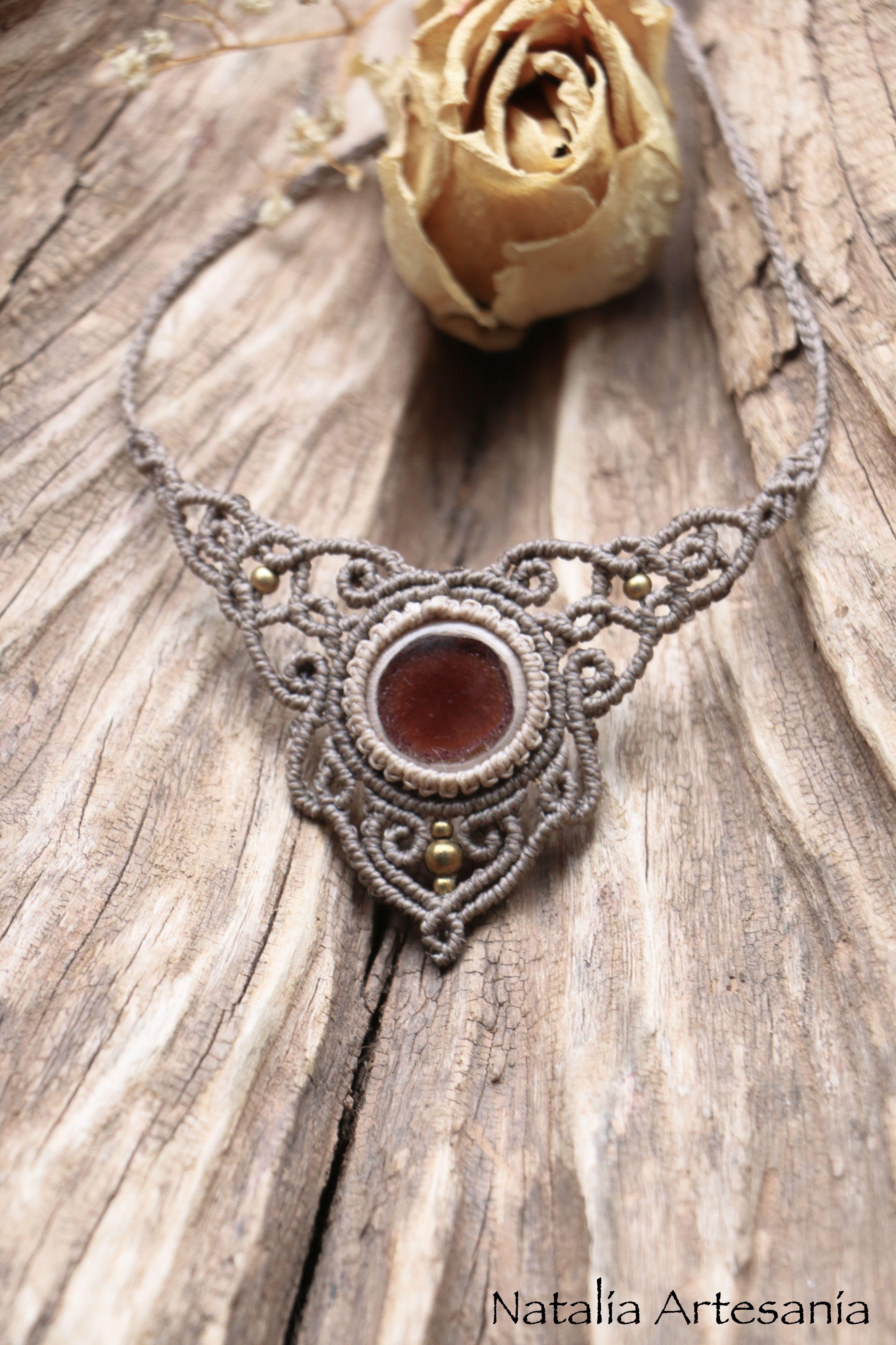 makramee halskette rosenfee halsketten necklace makramee halskette halskette und kette. Black Bedroom Furniture Sets. Home Design Ideas