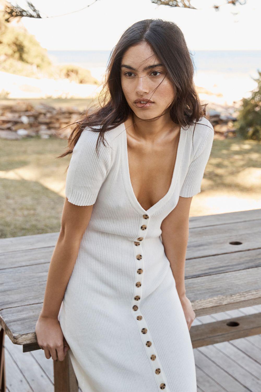 Resort 20 Wipe Out Australian Fashion Designers Short Sleeve Dresses Cotton Knit Dresses [ 1500 x 1000 Pixel ]
