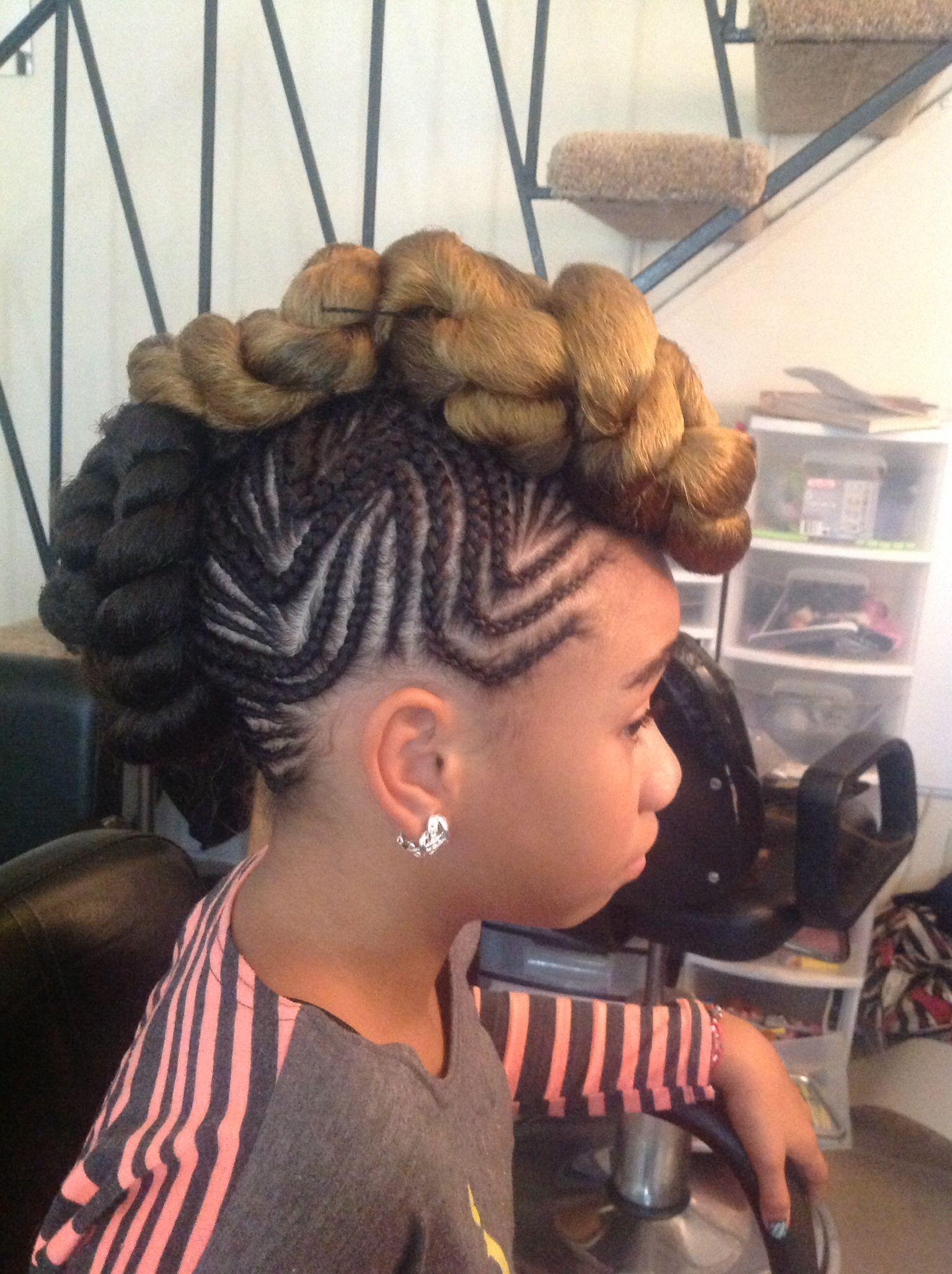 Black Hairstyles Mohawks Braided Mohawk Hair Kids Pinterest Braided Mohawk And Mohawks