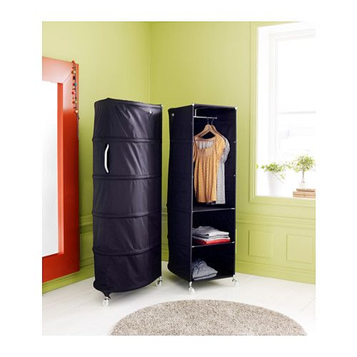 IKEA   IKEA PS, Wardrobe Tidy, Black, , Easy To Move Since It Has Three  Castors And Has A Handle In The Back.You Can Remove The Shelves If You Want  To Hang ...