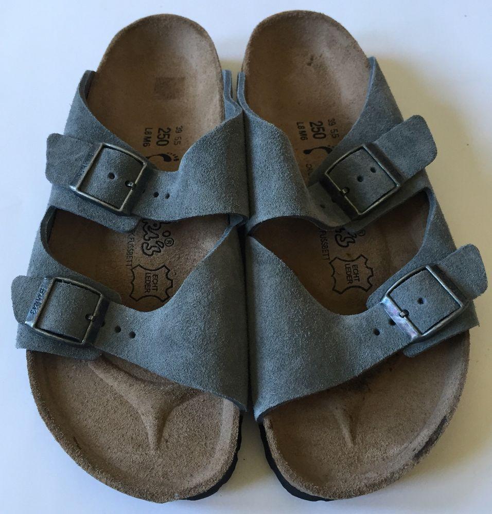 cbbb51a29a5e New Birki s Gray Suede Sandals Womens Shoes Birkenstock Size 8 Euro ...