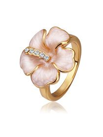 Flower Rhinestone Delicate Womens Ring img