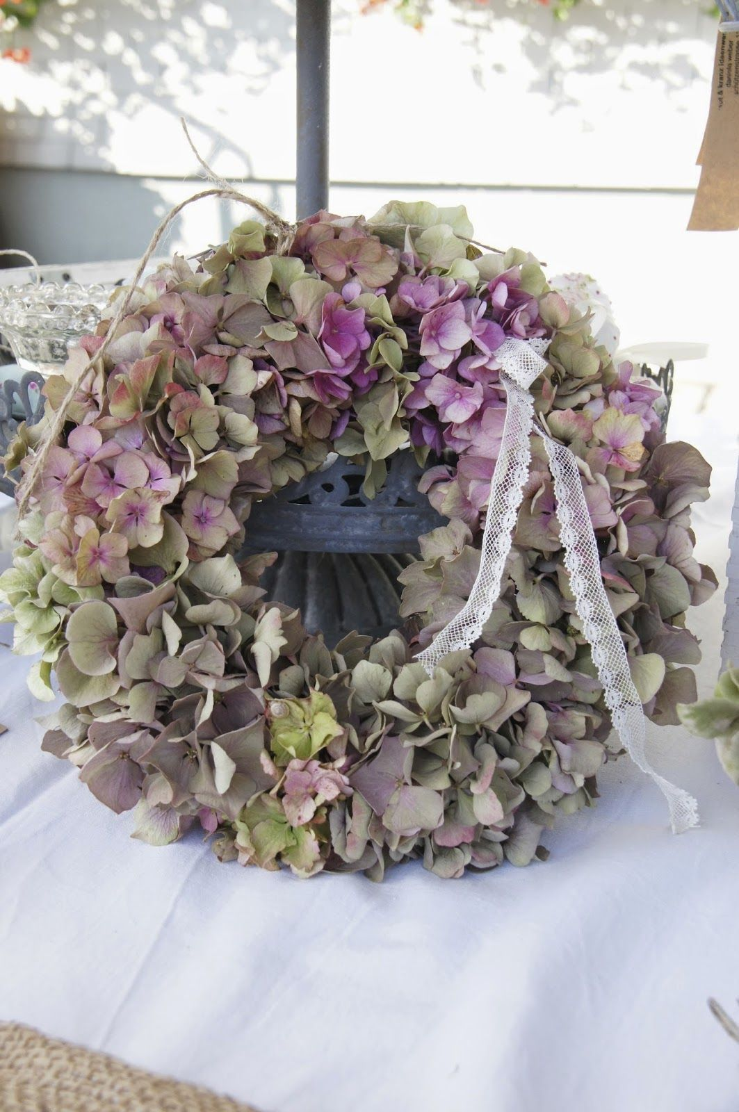 Kraut und kranz ideenwerkstatt wreaths pinterest for Couronne shabby chic