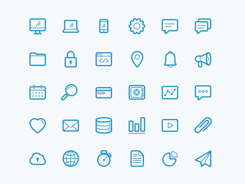Tech Icons Icon Icon Set Technology Theme