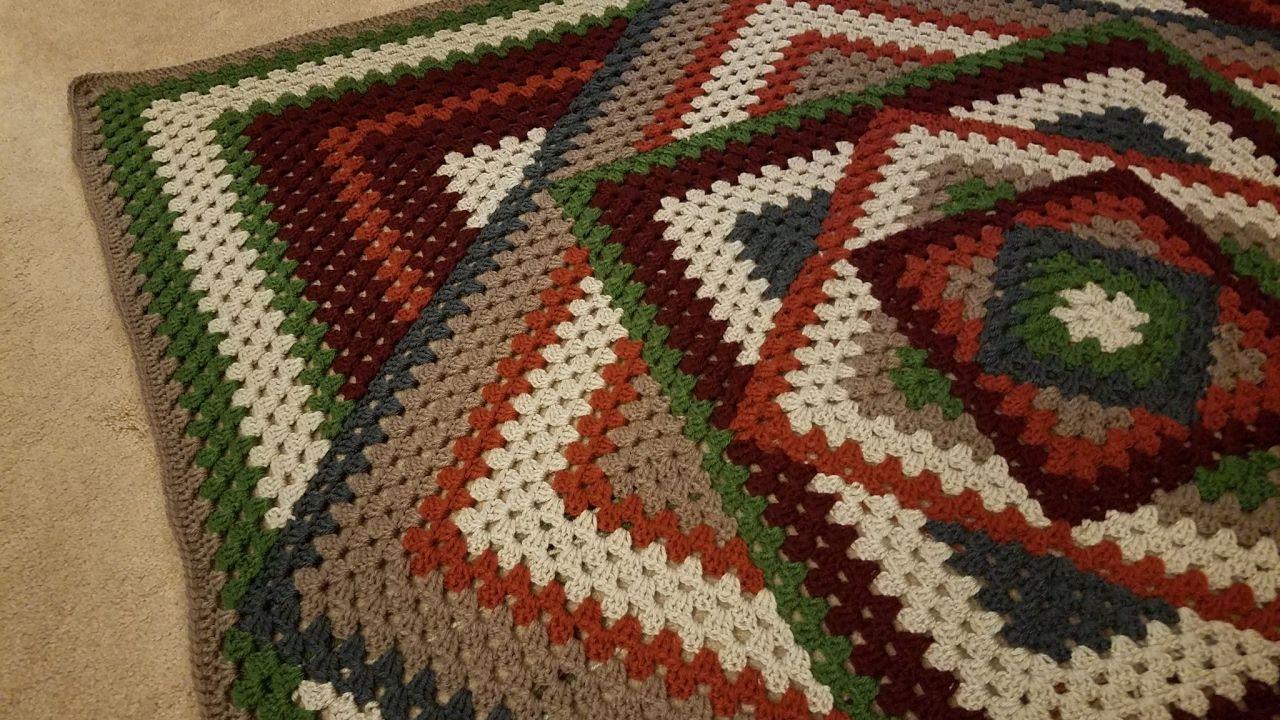 Crocheted Kaleidoscope Granny Square Tutorial   Crochet Pattern\'s ...