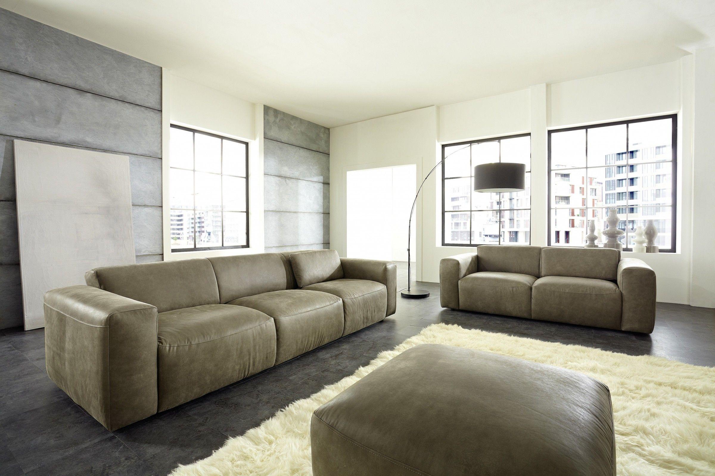 Ledersofa  Ledersofa Pure Abgebildet ist das Sofa in einem Nubukleder mit ...