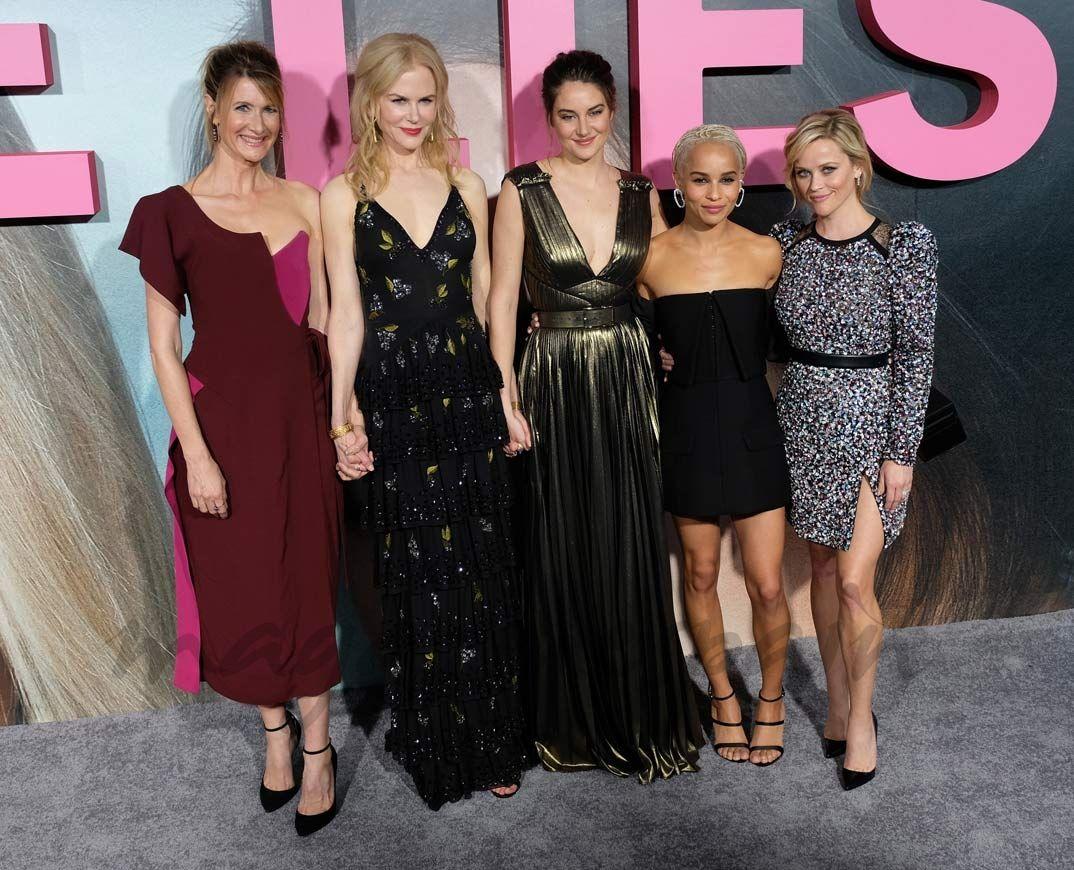 """Laura Dern, Nicole Kidman, Shailene Woodley, Zoe Kravitz y Reese Witherspoon - Un quinteto de lujo para protagonizar la serie, nueva apuesta de HBO, """"Big Little Lies"""", la adaptación a la pequeña pantalla la famosa novela 'Pequeñas mentiras' de Liane Moriarty."""
