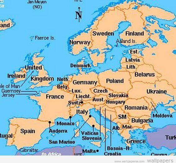 Bulgaria Greece Macedonia Europe Map City Maps European Map