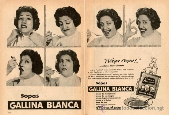 Mary Santpere anunciando Gallina Blanca