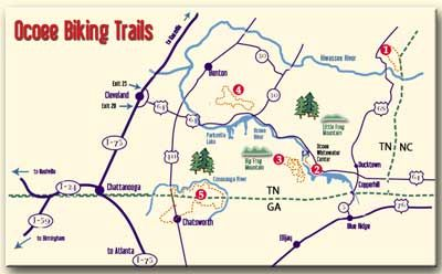 Ocoee River Rafting Map | Click here for larger printable PDF . Bike ...
