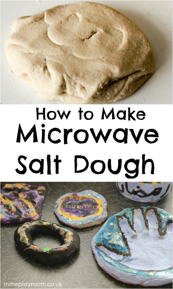 Salt Dough Craft Ideas For Kids Part - 28: How Make Salt Dough In The Microwave. So Much Quicker Than The Traditional  Method.