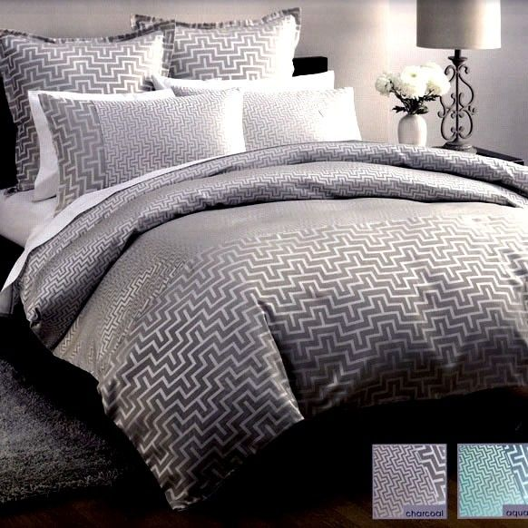 Gray Duvet Cover Harrington Charcoal Grey Silver