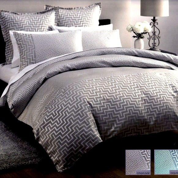 Gray Double Comforter : Gray duvet cover harrington charcoal grey silver