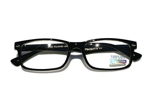 94f62ca6acf Black Interview Smart Looks Nerd Fashion Rectangular Clear Lens Eye Glasses  Fake