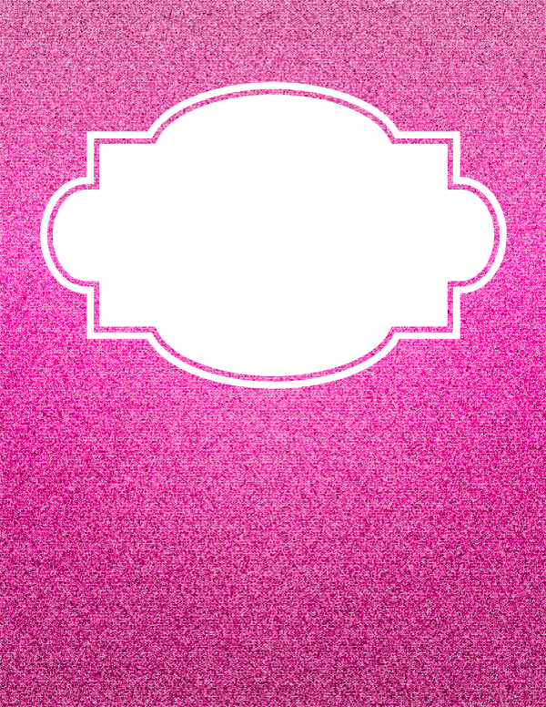 free printable pink glitter binder cover template download the