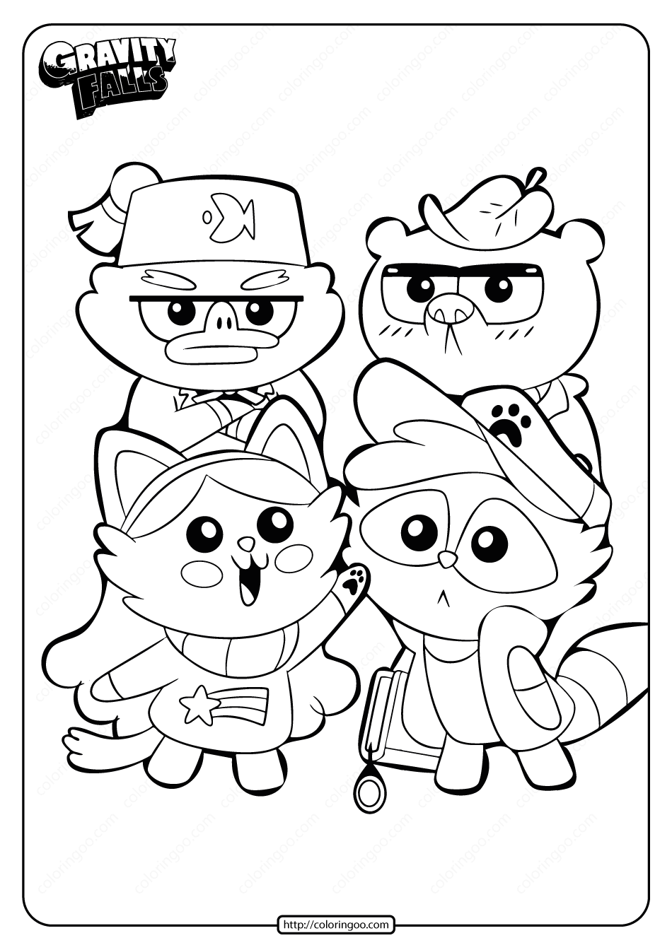 Gravity Falls Free Coloring Pages Collection