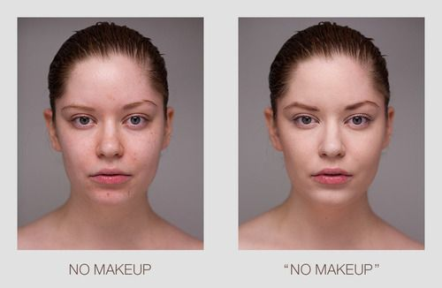 The Myth Of No Makeup I Started Realizing That The Photo On The Right Was What Was In Skincare Ads And Posted By P Makeup Vs No Makeup Makeup Looks Beauty